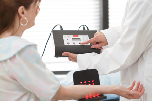 Dr. Grover uses both In-Light and Lumiwave NIR devices in office.
